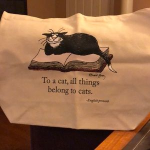 Cat image ( Edward Gorey) Tote bag